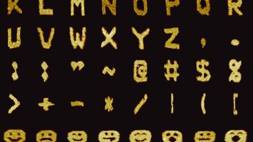 Gedruckte DNA-Buchstaben