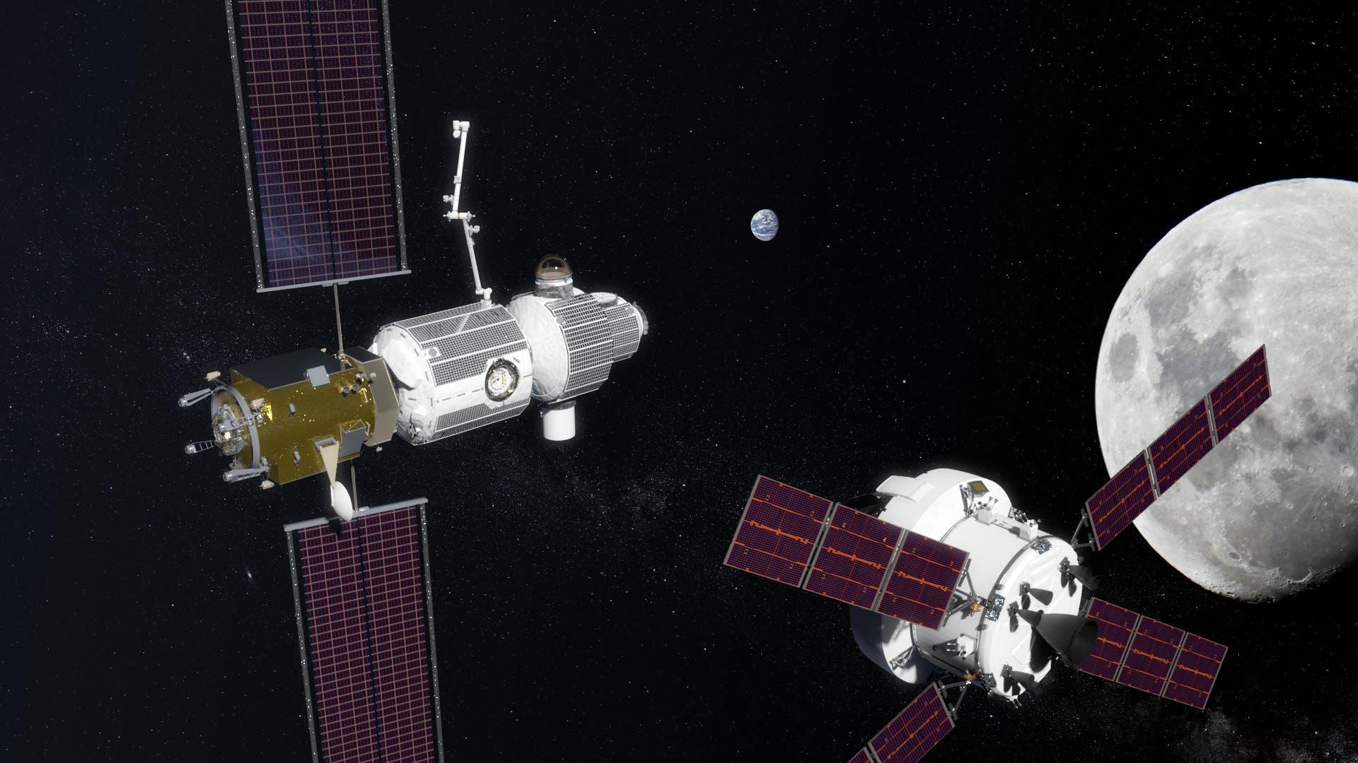 Lunar Orbital Platform-Gateway und das Orion-Raumschiff