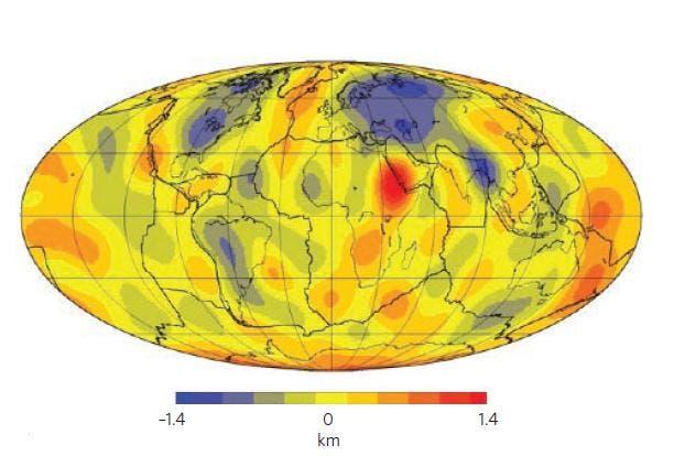 Globale Karte der dynamischen Topographie
