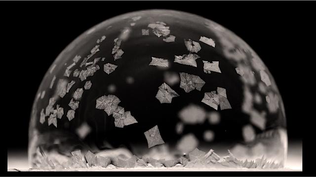 Einfrierende Seifenblase