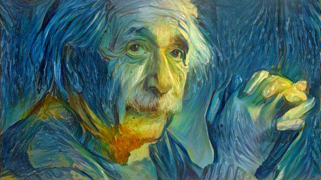 Albert Einstein nach Vincent van Gogh