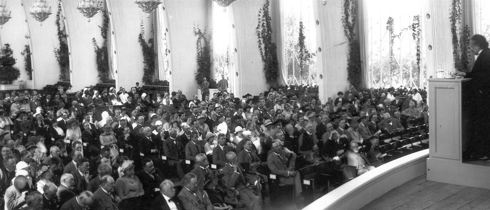 Einstein vor der Nordic Assembly of Naturalists