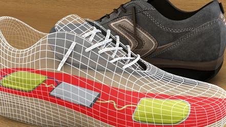 Schuheinlage liefert Strom