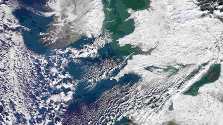 Winter über England