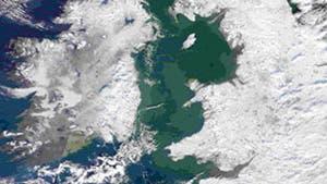 England verschneit