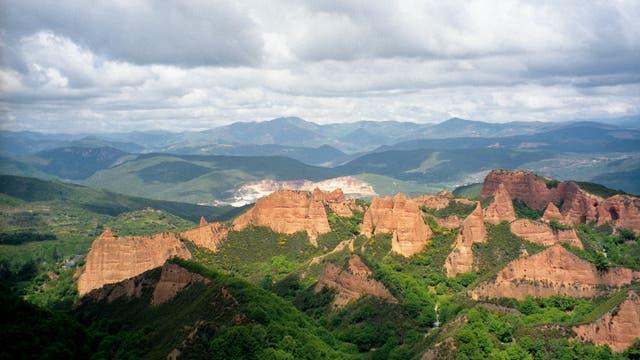 Las Médulas, Spanien, einst wichtigste Goldmine des Römischen Reiches