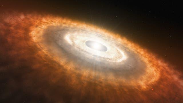 Protoplanetare Scheibe eines jungen Planetensystems