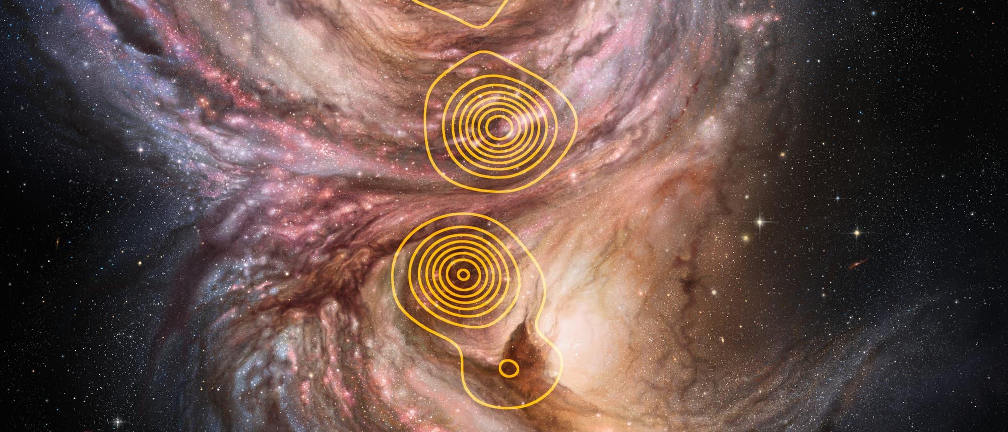 Sternentstehungsgebiete, Submillimeterbereich