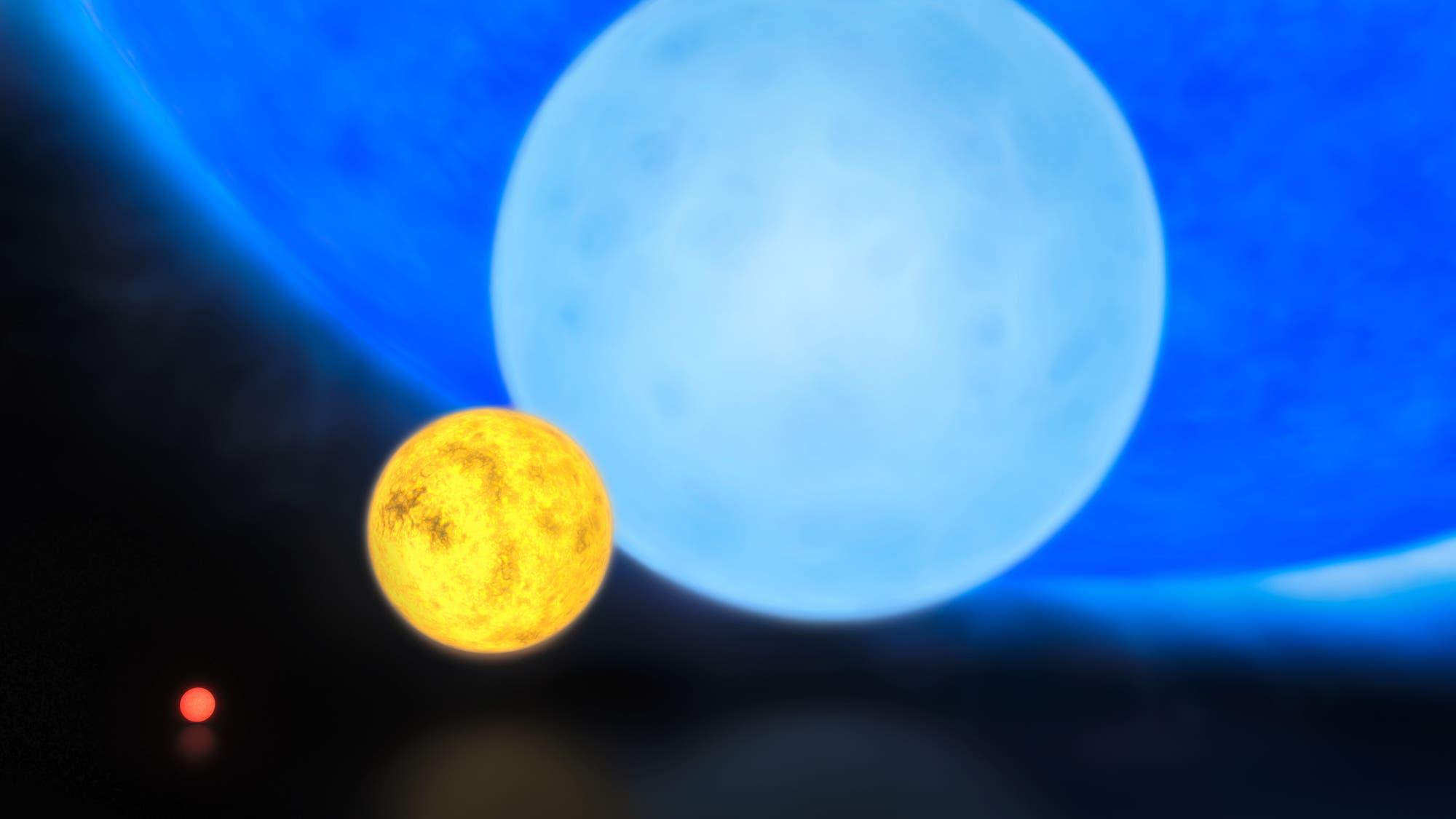 Die Sonne im Vergleich zu R136a1