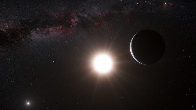künstlerische Darstellung des vermeintlichen Nachbarplaneten