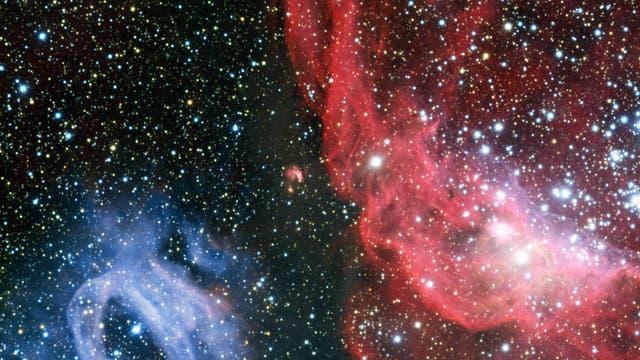 Zwei Gasnebel in der Großen Magellanschen Wolke