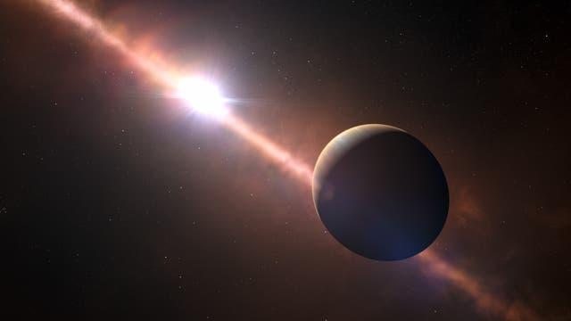 Exoplanet Beta Pictoris b (künstlerische Darstellung)