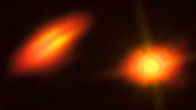 HK Tauri im Blick von Hubble und ALMA