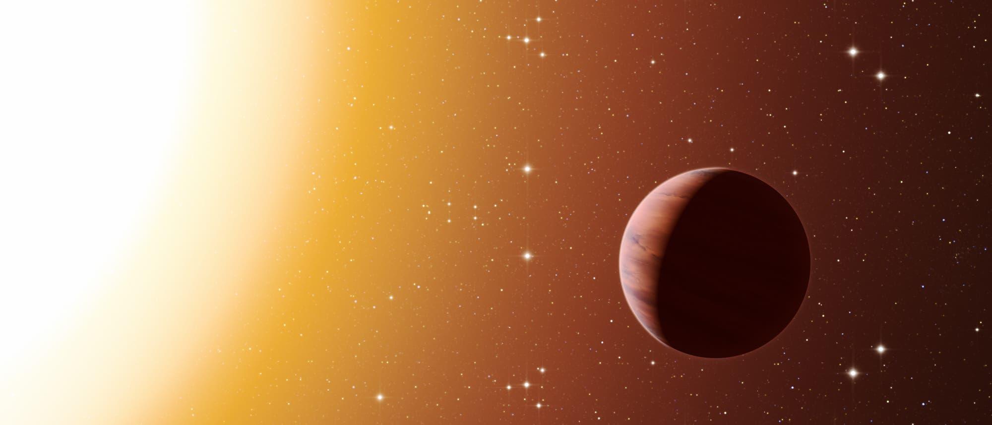 Ein heißer Jupiter (künstlerische Darstellung)