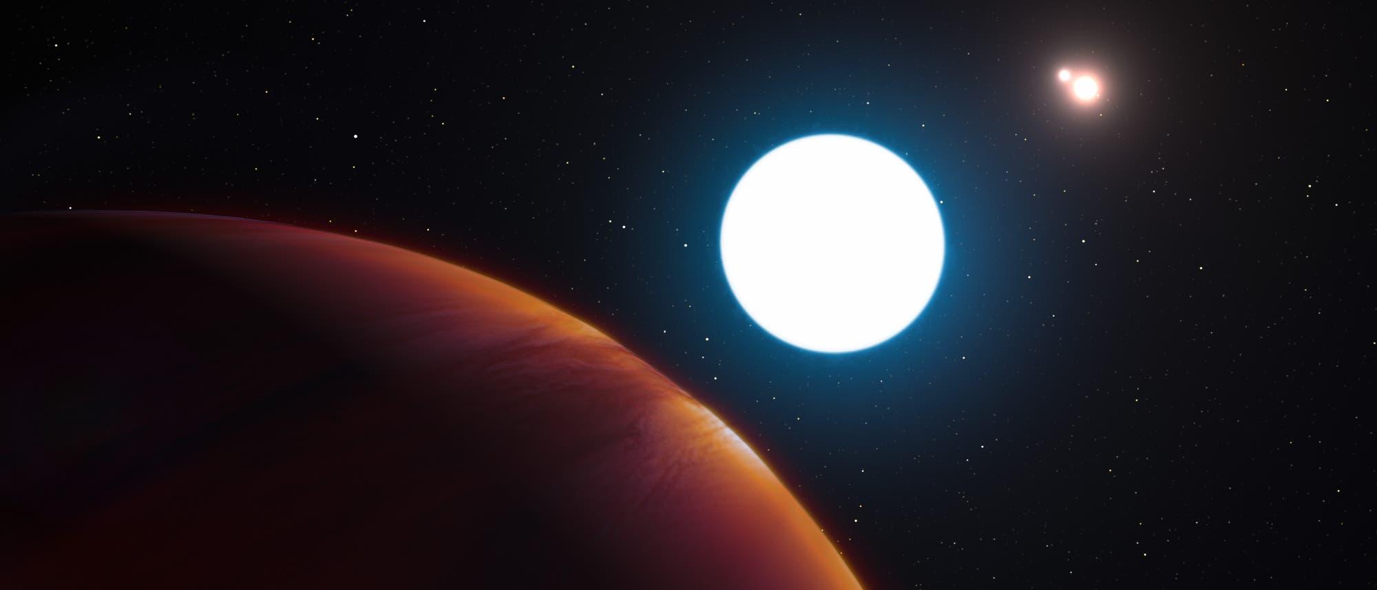 Künstlerische Darstellung des extrasolaren Planeten HD 131399Ab im Sternbild Zentaur