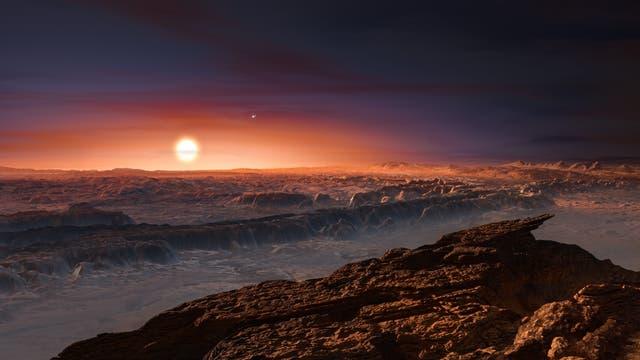 Wie mag es wohl auf dem Planeten Proxima b aussehen?