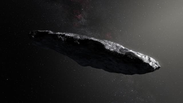 Der interstellare Besucher 1I/'Oumuamua