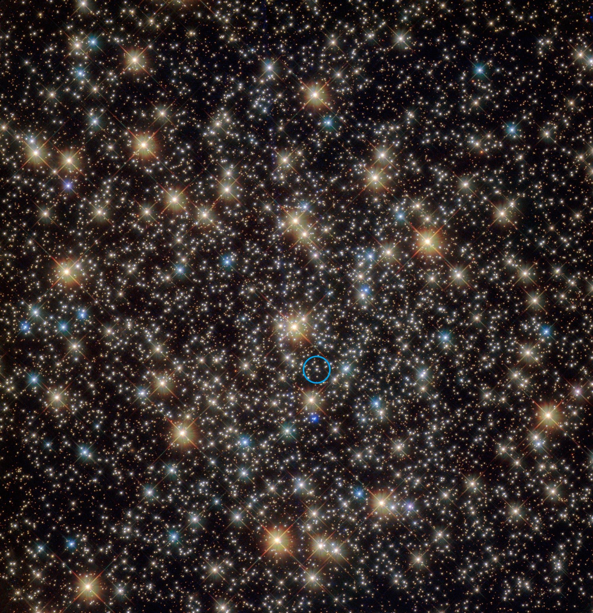 Das Schwarze Loch im Zentrum des Kugelsternhaufens NGC 3201 im Sternbild Segel