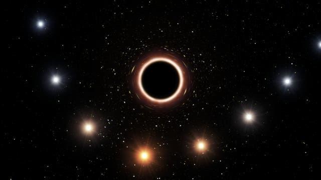 Stern und schwarzes Loch (künstlerische Darstellung)