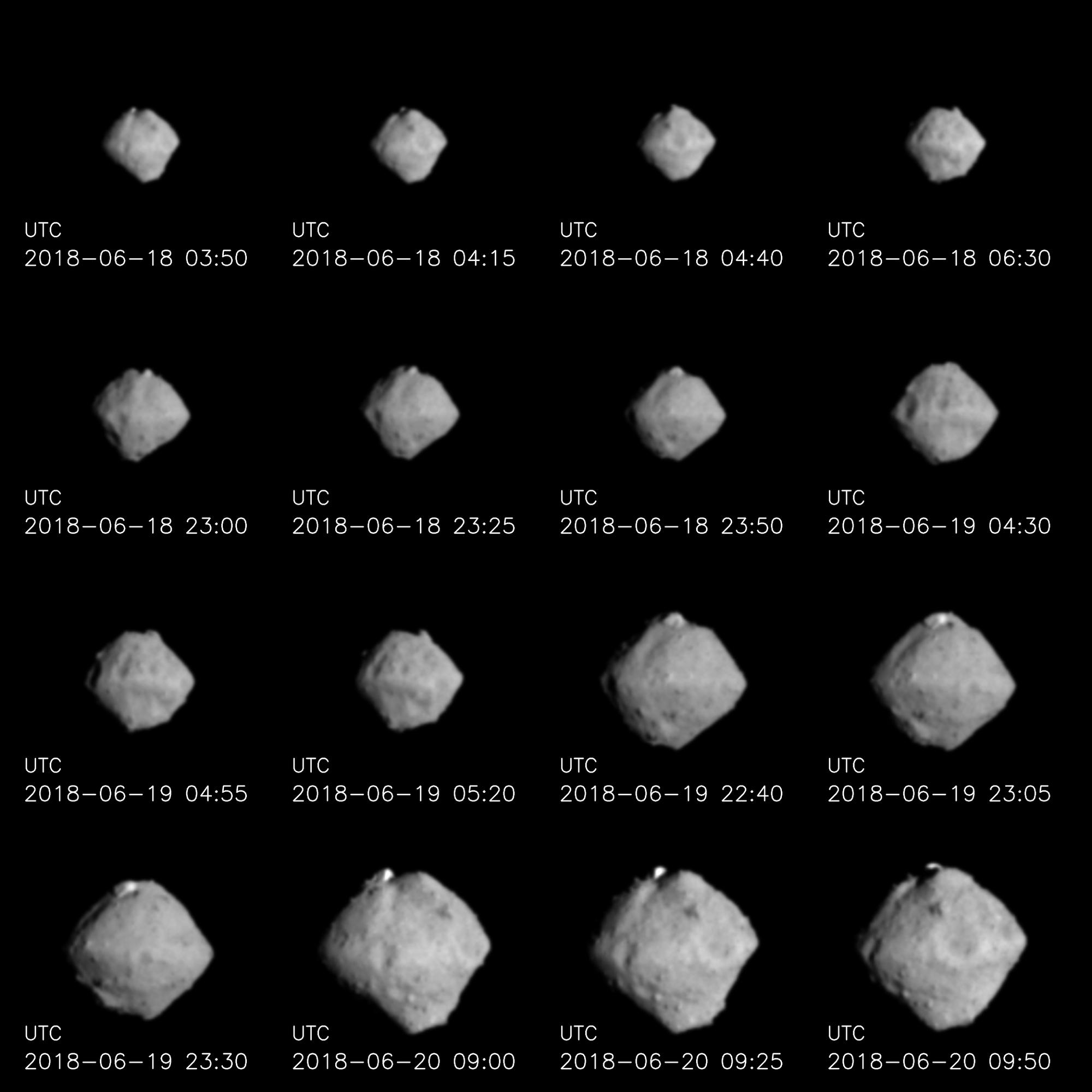 Im Anflug auf den Asteroiden Ryugu – Aufnahmen von Hayabusa-2