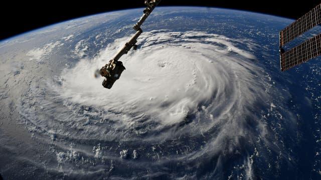 Hurrikan Florence, von der ISS aus gesehen