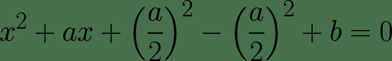 Eine quadratisch ergänzte Formel.