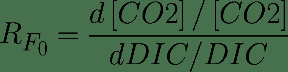 Die Formel für den Revelle-Faktor