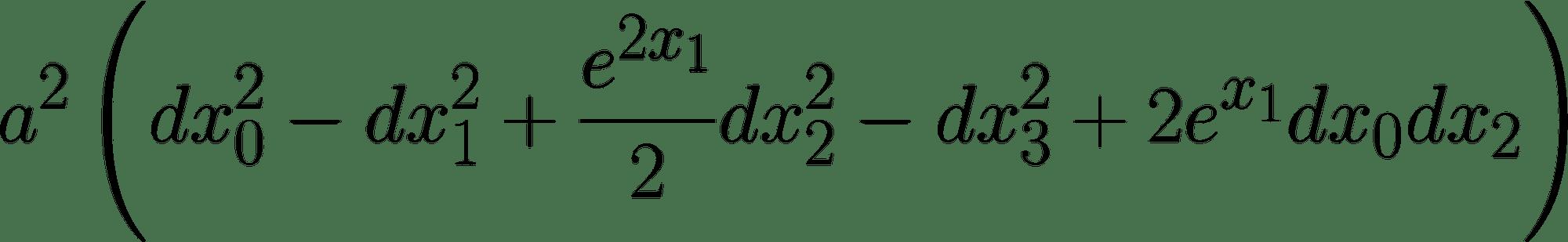 Die Formel beschreibt eine von Kurt Gödel gefundene Lösung der Einsteinschen Feldgleichungen, die Zeitreisen möglich macht.