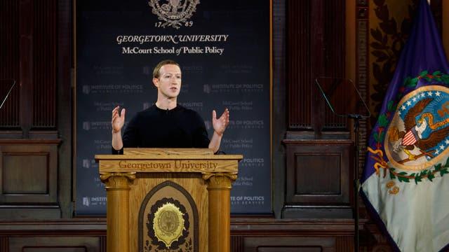 Mark Zuckerberg spricht über Redefreiheit