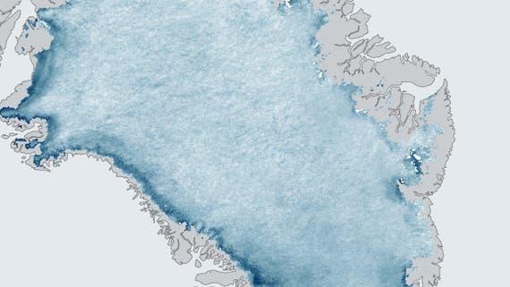 Grönlands Eis wird dunkler