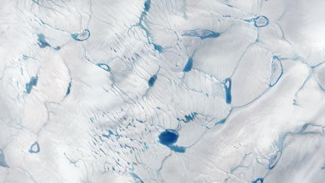 Eisdecke in Grönland 2014 und 2016