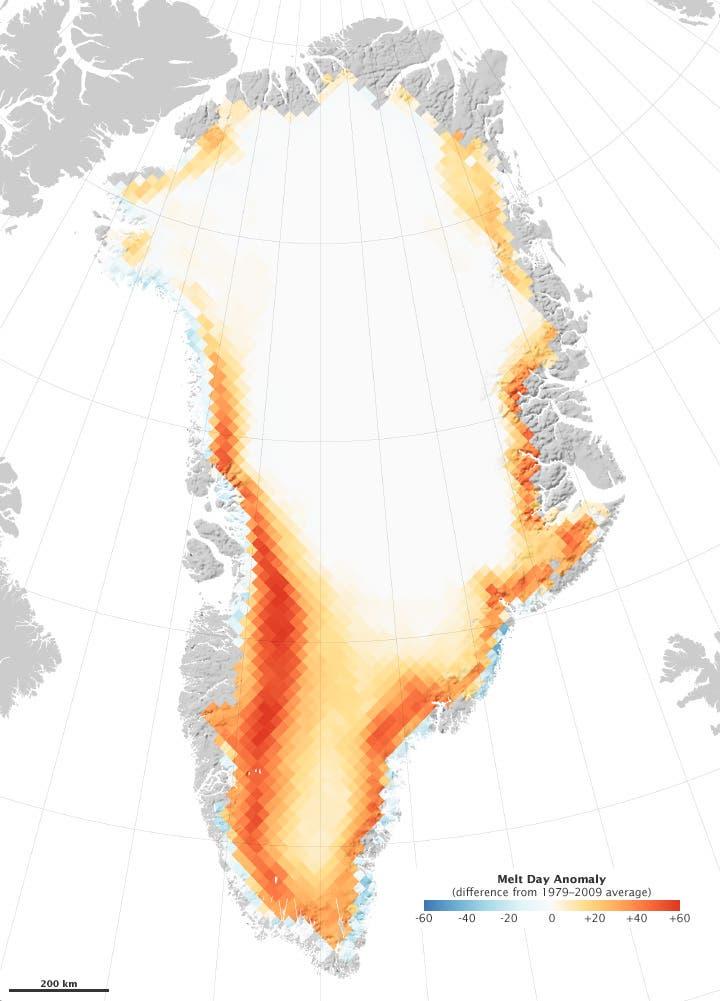 Schmelze auf Grönland