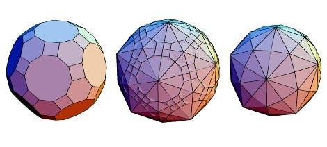 Großes Rhomben- Ikosidodekaeder und Dual