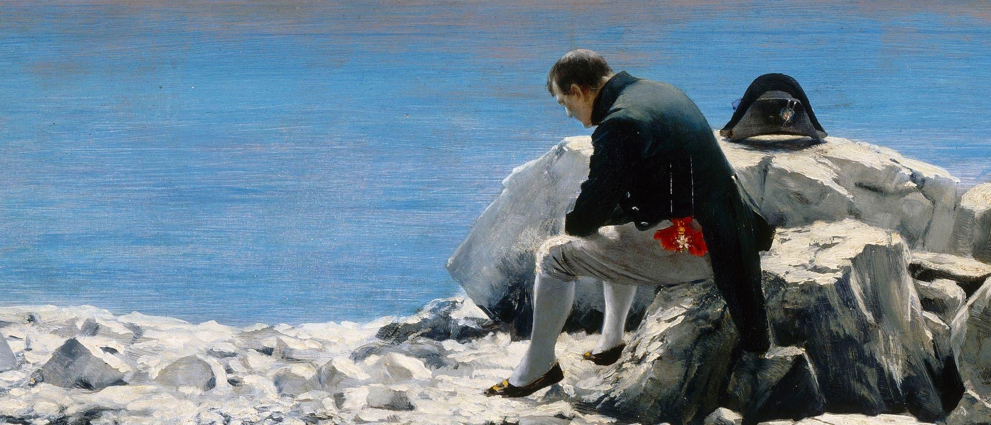 Napoleon auf St. Helena. Gemälde von Oskar Rex (1857–1929).