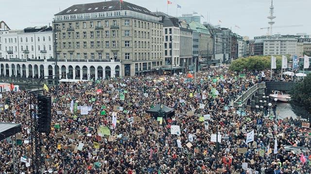 Klimastreik-Demonstration in Hamburg am 20. September 2019