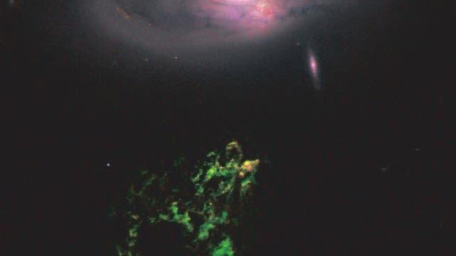 Hanny's Voorwerp (Aufnahme des Weltraumteleskops Hubble)