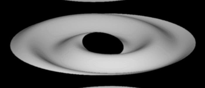 Planetenringe im Modell