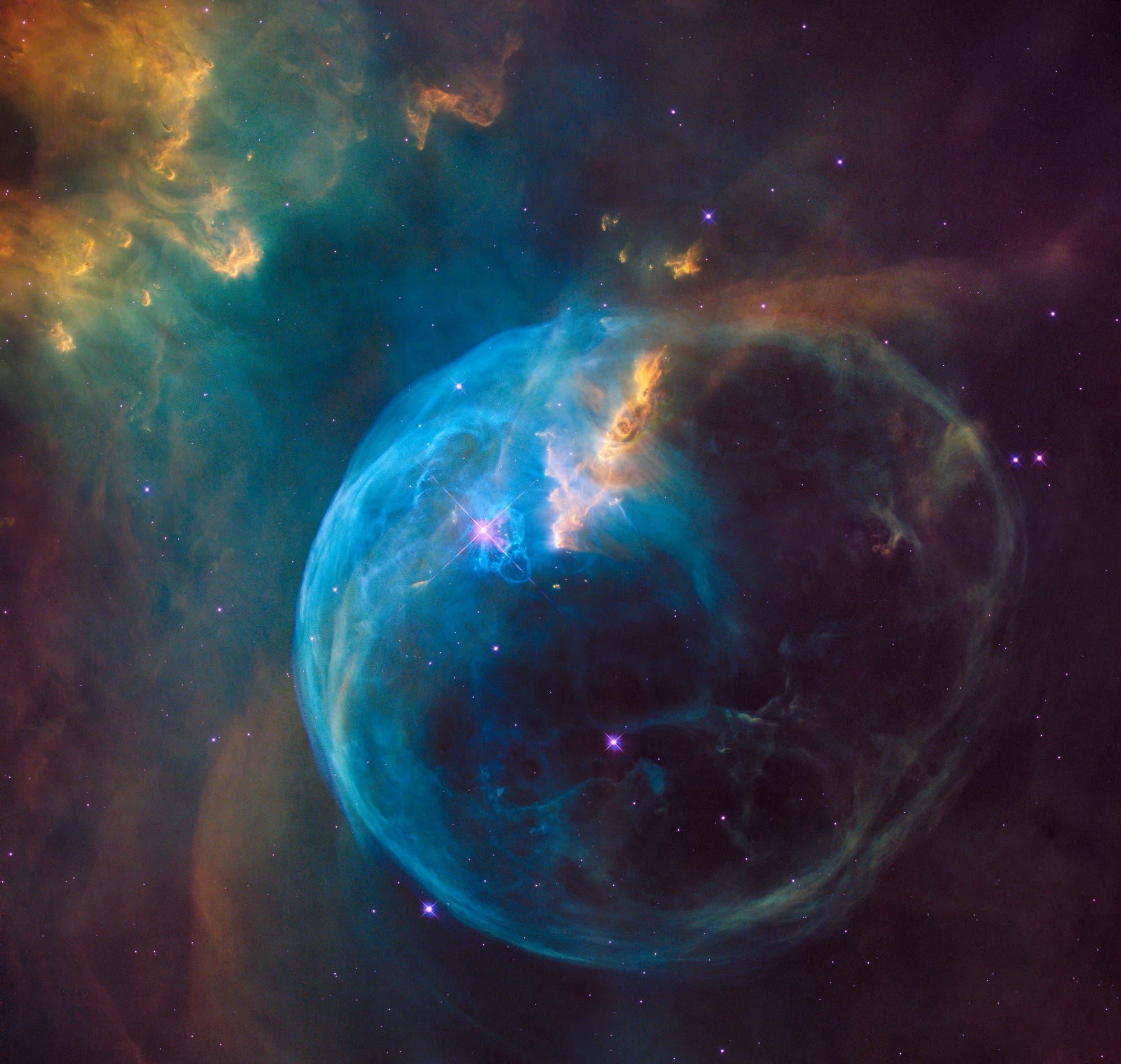 Der Blasennebel NGC 7635 im Sternbild Kassiopeia (HST-Aufnahme)