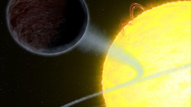Illustration des Exoplaneten WASP-12b