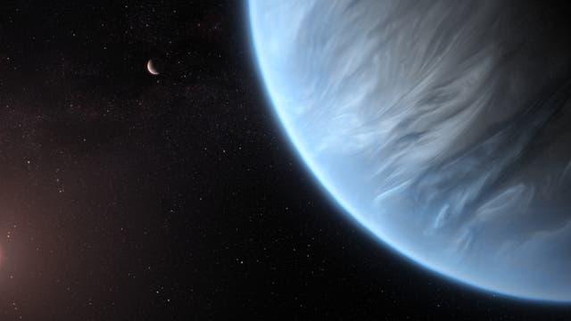 Exoplanet K2-18b (künstlerische Darstellung)