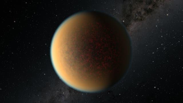 Gesteinsplanet GJ 1132 b in einer künstlerischen Darstellung