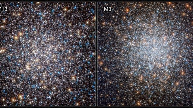 Um die physikalischen Grundlagen der Entwicklung Weißer Zwerge zu untersuchen, verglichen Astronomen abkühlende Weiße Zwerge in zwei massiven Sternansammlungen: den Kugelsternhaufen M3 und M13.