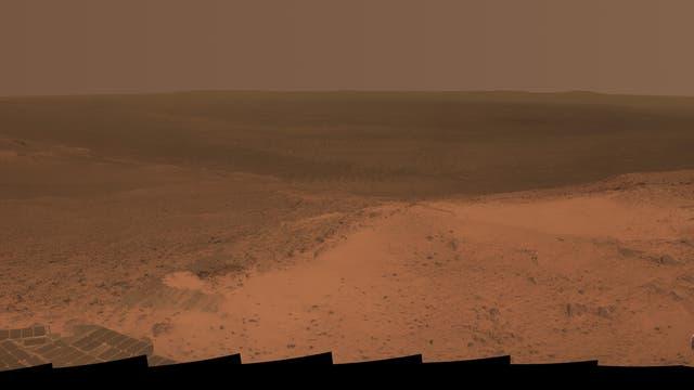 Panoramablick von Cape Tribulation auf dem Mars