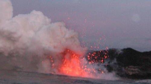 Heiße vulkanische Küste