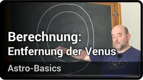 Berechnung: Entfernung von Venus zur Erde   Peter Kroll