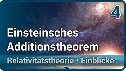 Einsteinsches Additionstheorem von Geschwindigkeiten