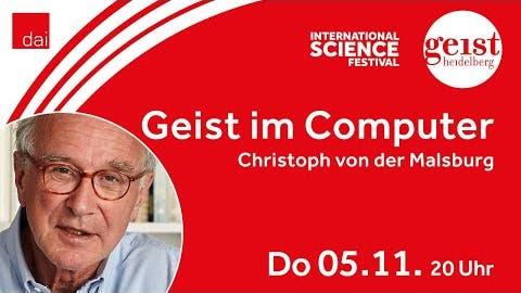 """Christoph von der Malsburg """"Geist im Computer. Wie soll das gehen?"""" ??"""