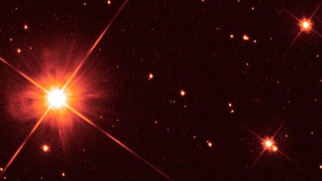 Aufnahme des Weltraumteleskops Hubble von Proxima Centauri
