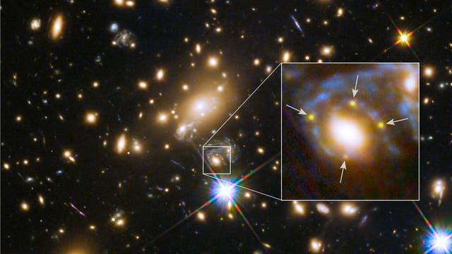 Supernova Refsdal und Galaxien-Cluster MACS J1149.6+2223