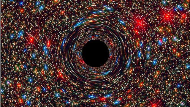 Computersimulation eines supermassereichen Schwarzen Lochs
